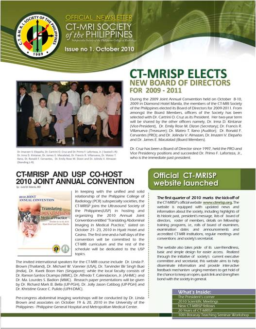 CT-MRISP releases maiden issue of its official newsletter